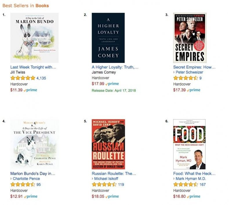 John Oliver's Marlon Bundo book tops Amazon