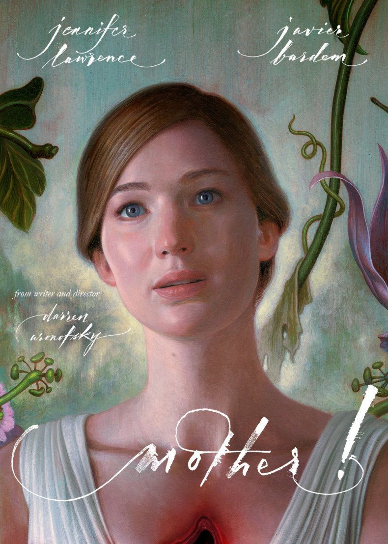 Poster for 'mother!' starring Jennifer Lawrence