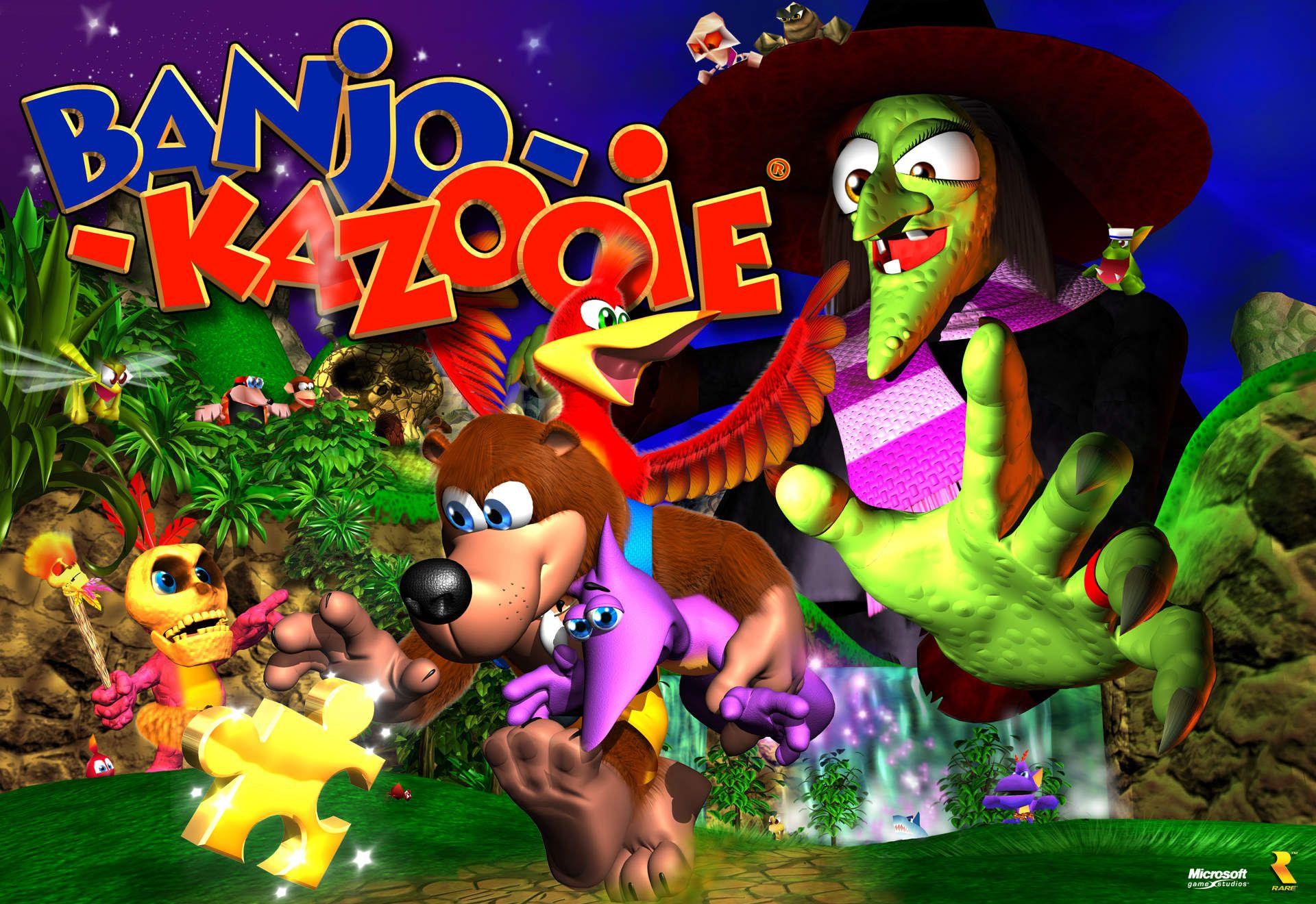 banjo kazooie boxart