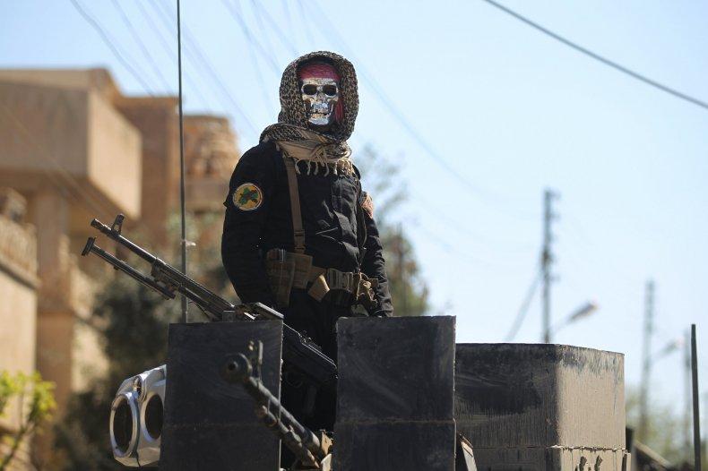 Iraqi counter terrorism soldier