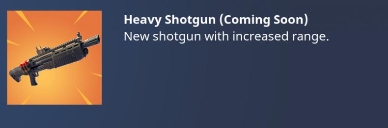 'Fortnite' Heavy Shotgun News