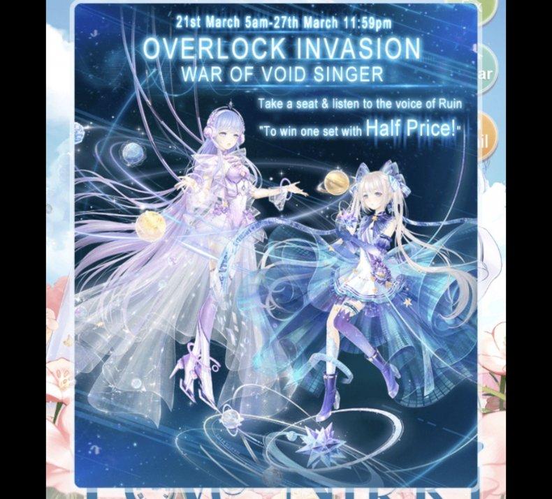 love, nikki, event, guide, void, singer, space cube, tips, strange invitation, nebula echo, overclock invasion