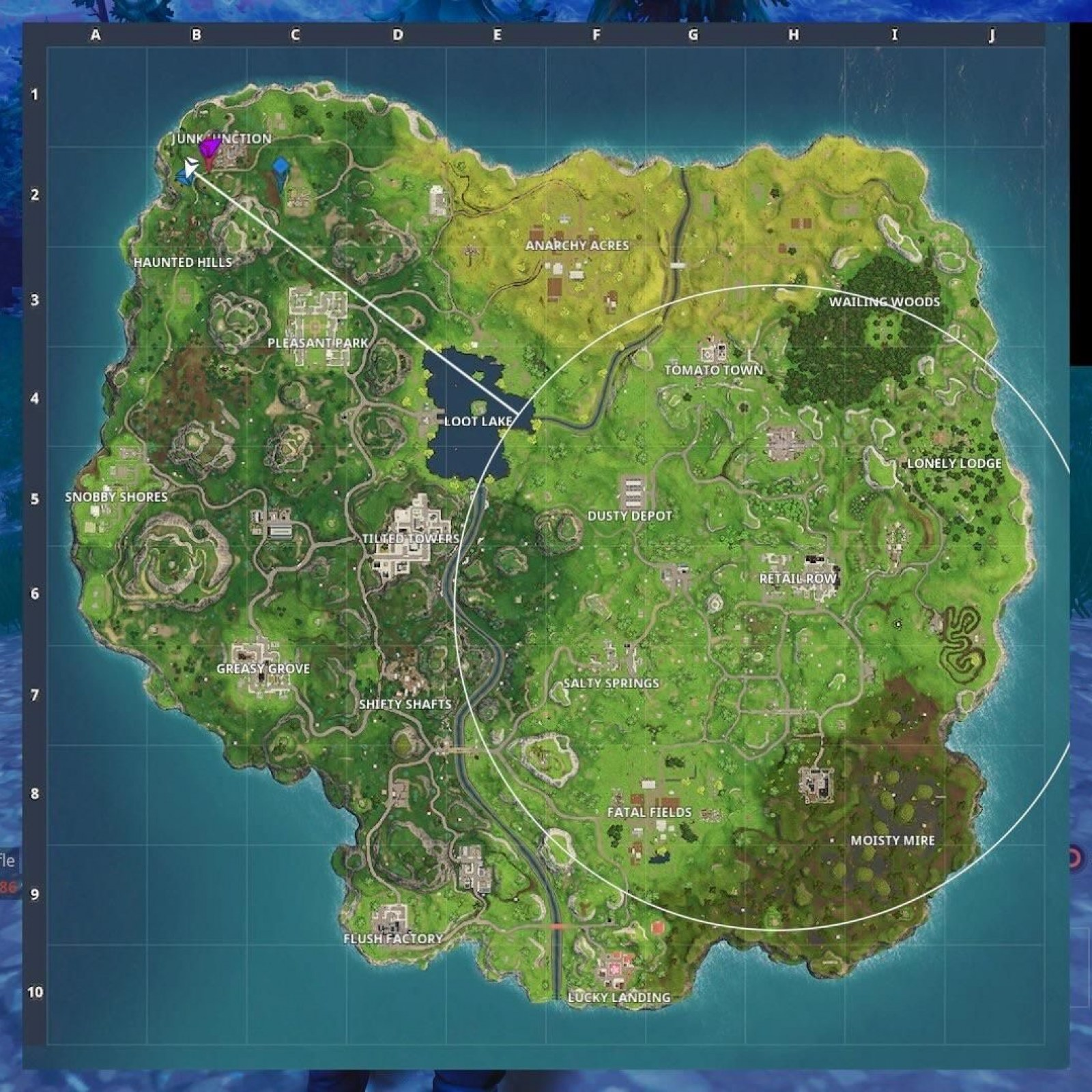 Fortnite Anarchy Acres Treasure Gas Station Locations Week