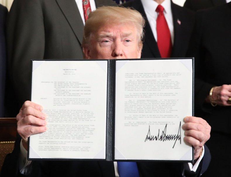 Trump signs China tariff