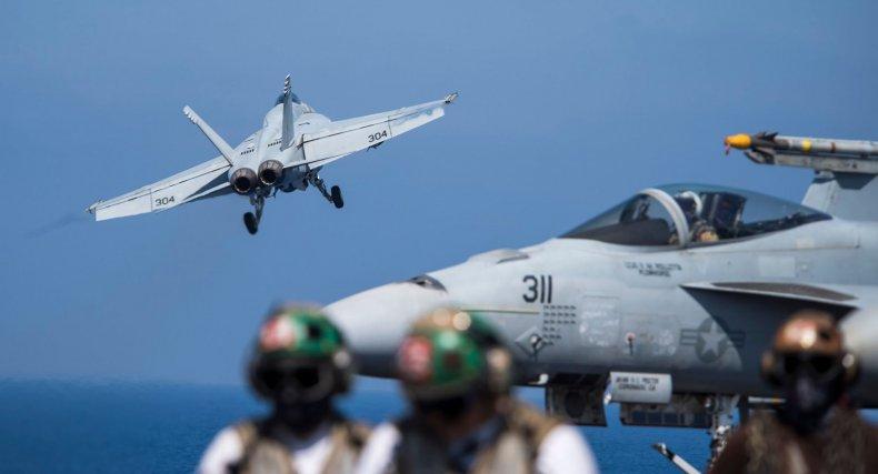 U.S. F-18 fighter