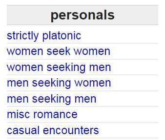 Craigslist Personals Shutting Down