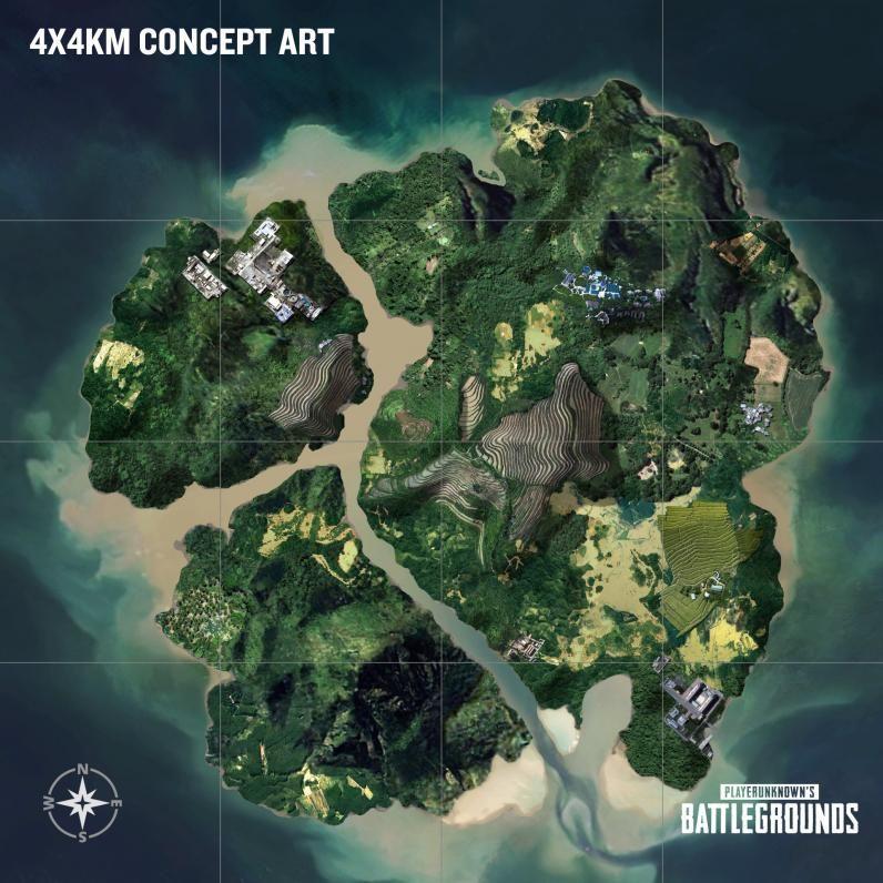 PUBG Island Map Concept