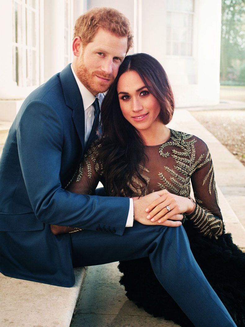 Prince Harry and Meghan Markle's engagement portrait