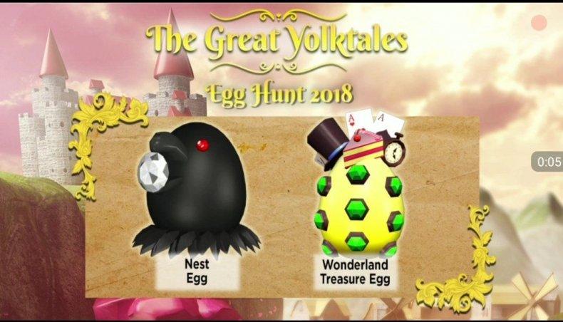 roblox egg hunt 2018 eggs all nest wonderland treasure