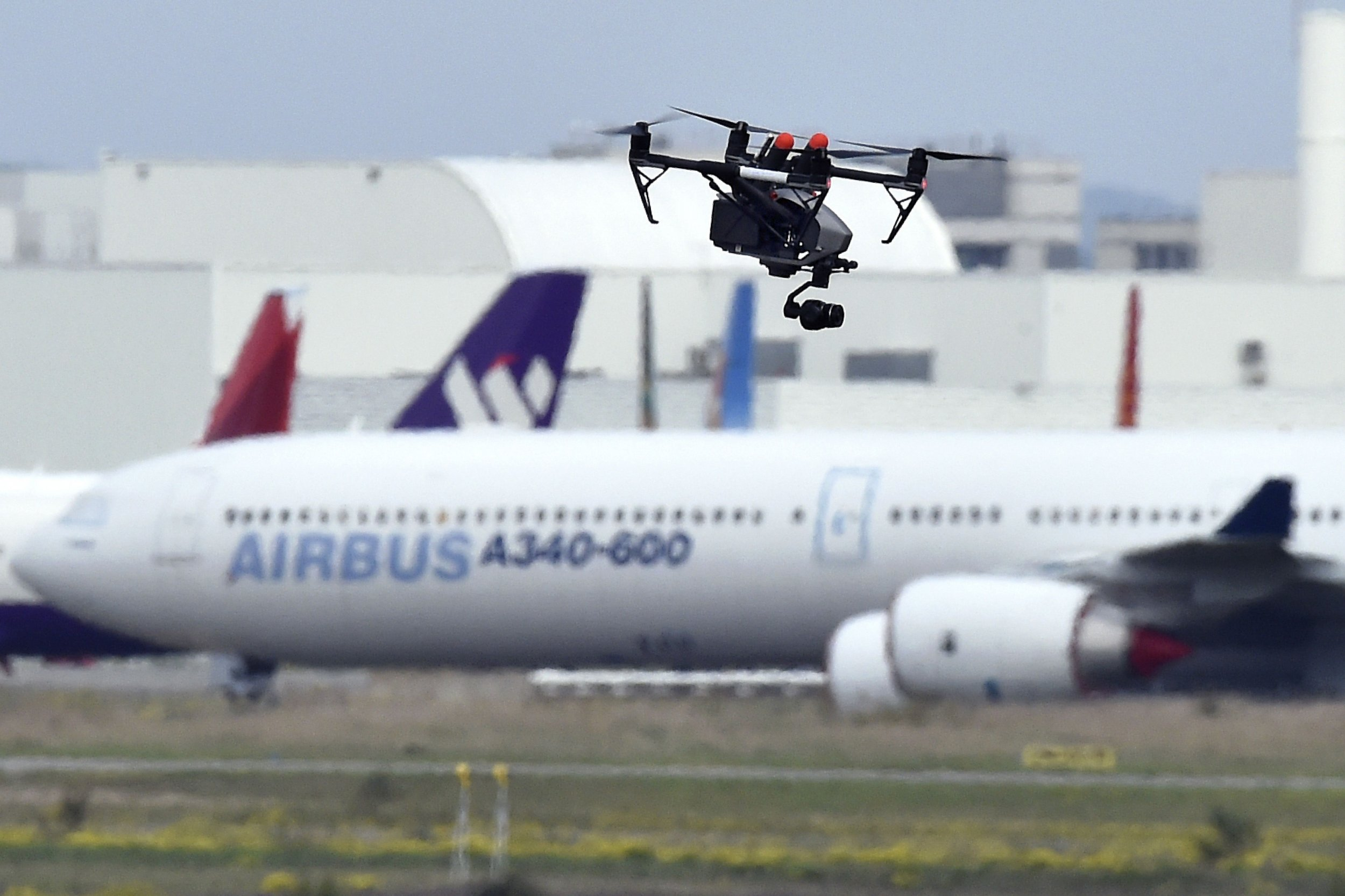 Drone at Toulouse airport