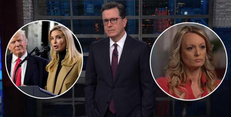 Colbert jokes about Trump's creepy obsession with his daughter