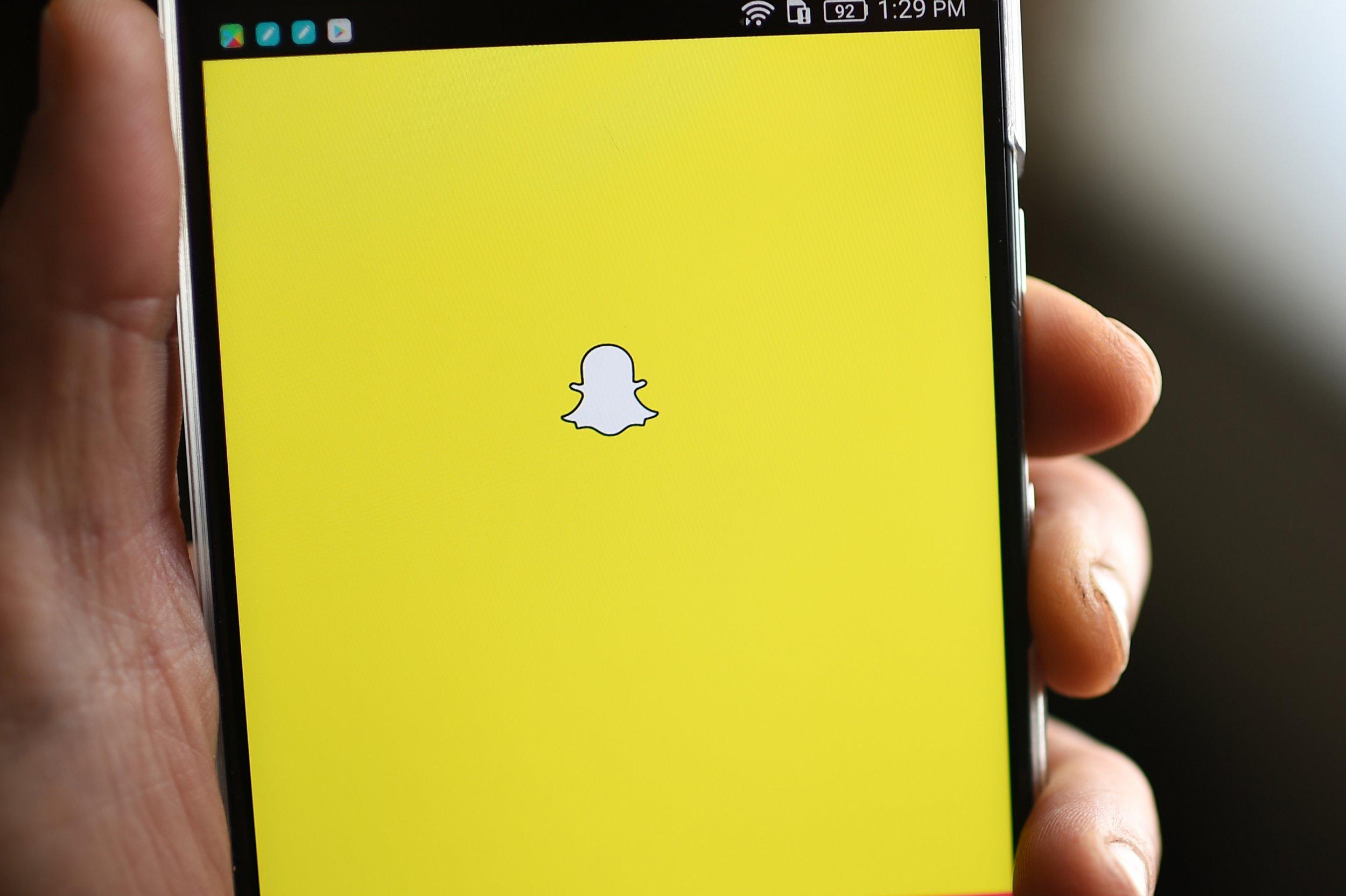snapchat on screen down