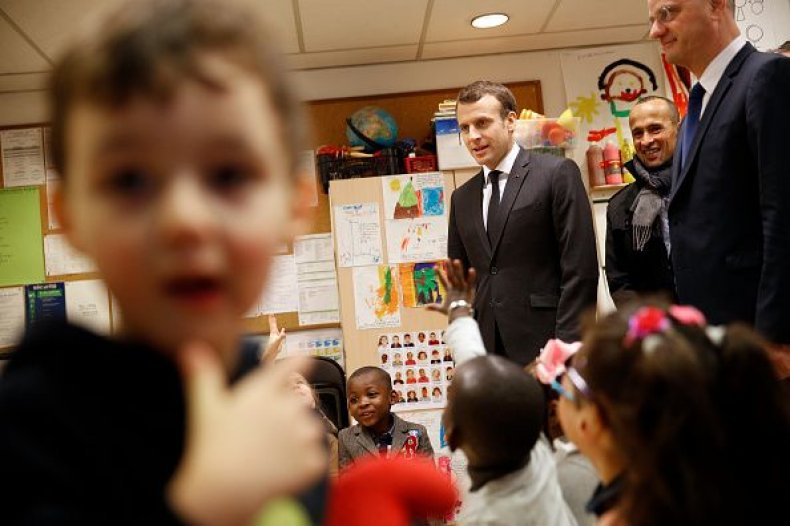 Children Age 3 Must Go To School French President Macron Says