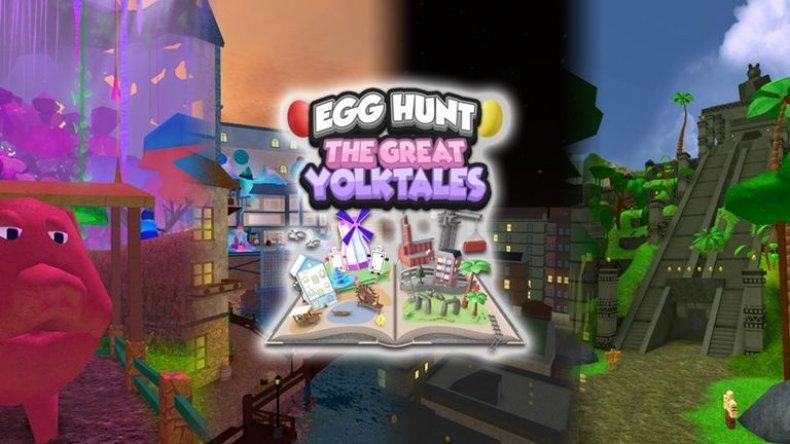 Roblox egg hunt 2018 game great yolk tales Fifteam