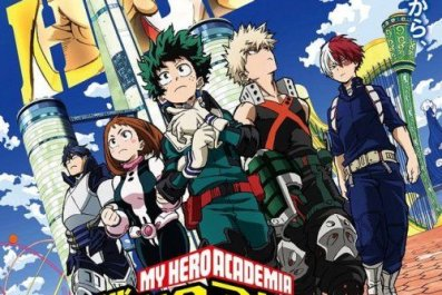 my hero academia movie poster