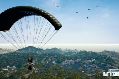 PUBG 4x4 map parachutte