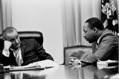 Martin Luther King & Lyndon Johnson