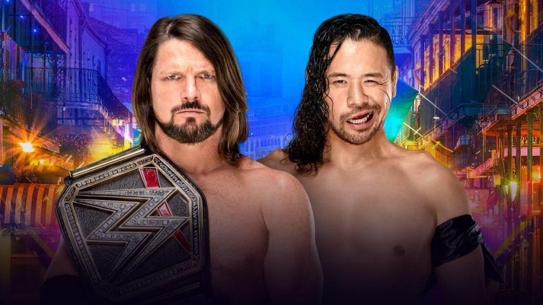 aj styles vs shinsuke nakamura WrestleMania 34