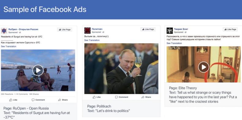 Sample of Facebook Ads