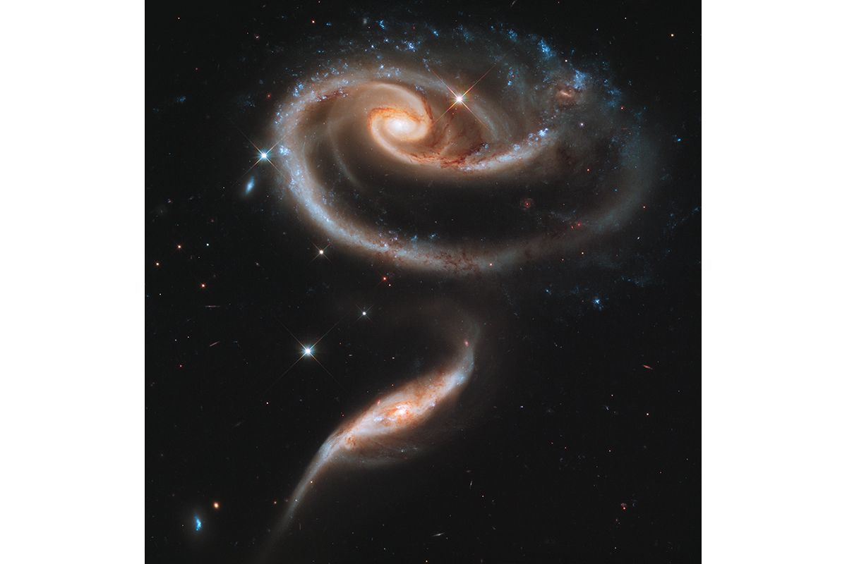 """10 A """"Rose"""" Made of Galaxies Highlights Hubble's 21st Anniversary"""