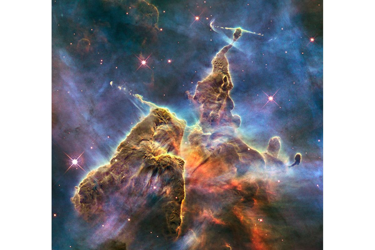 12 Hubble Captures View of 'Mystic Mountain'