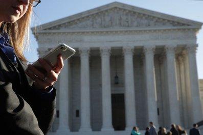 Supreme Court Woman on Phone
