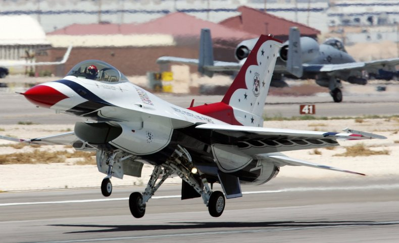 Thunderbirds F-16 at Nellis Air Force Base