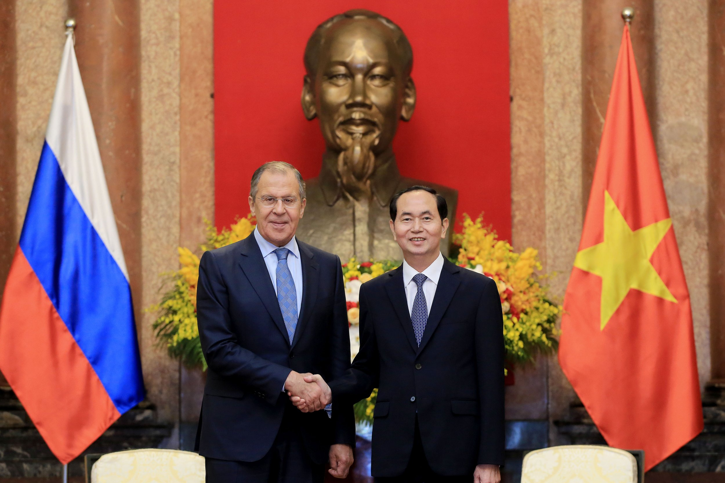 Sergei Lavrov with Tran Dai Quang Russia Vietnam