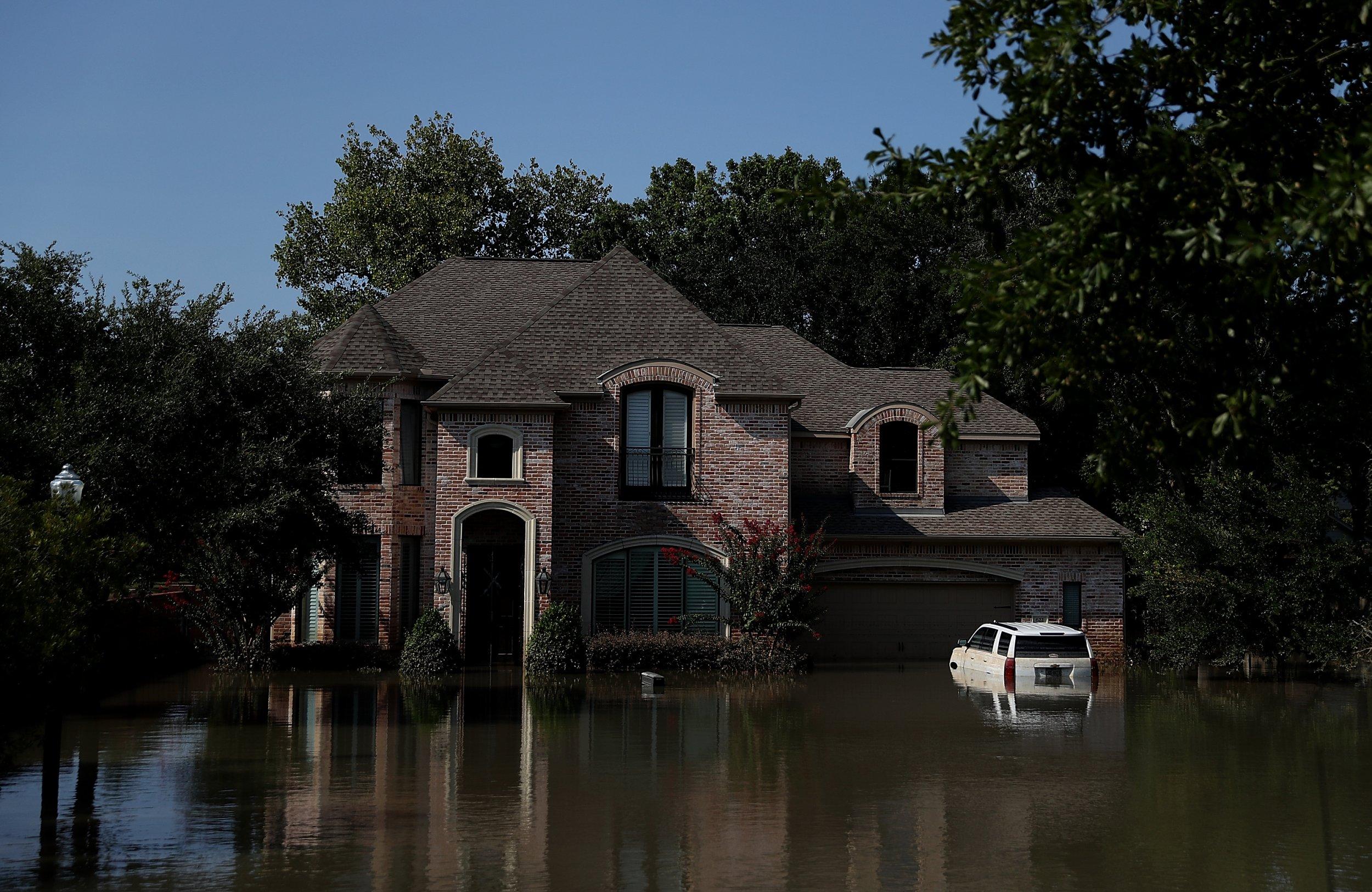 houston home flooded