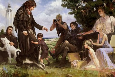FFXV picnic art
