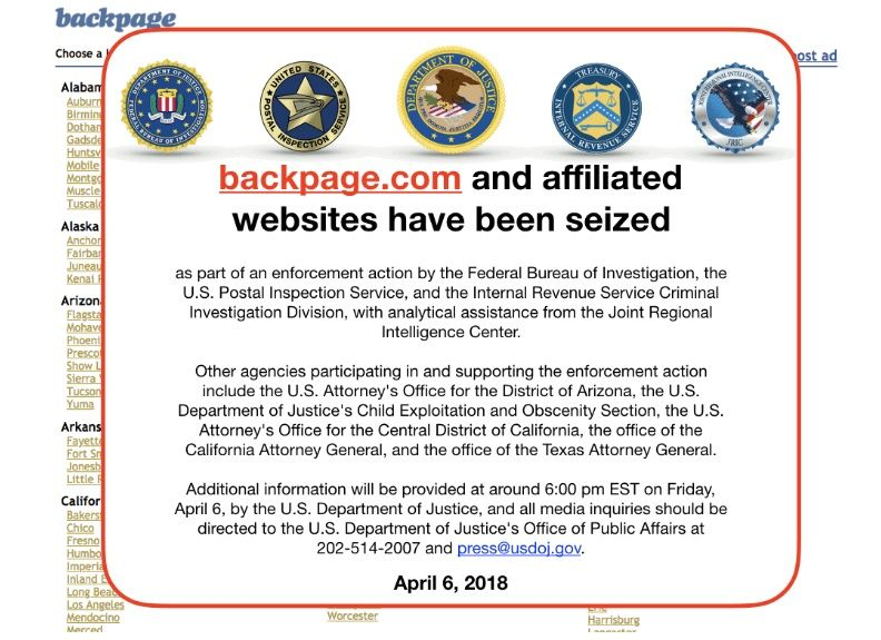 FBI Backpage Message