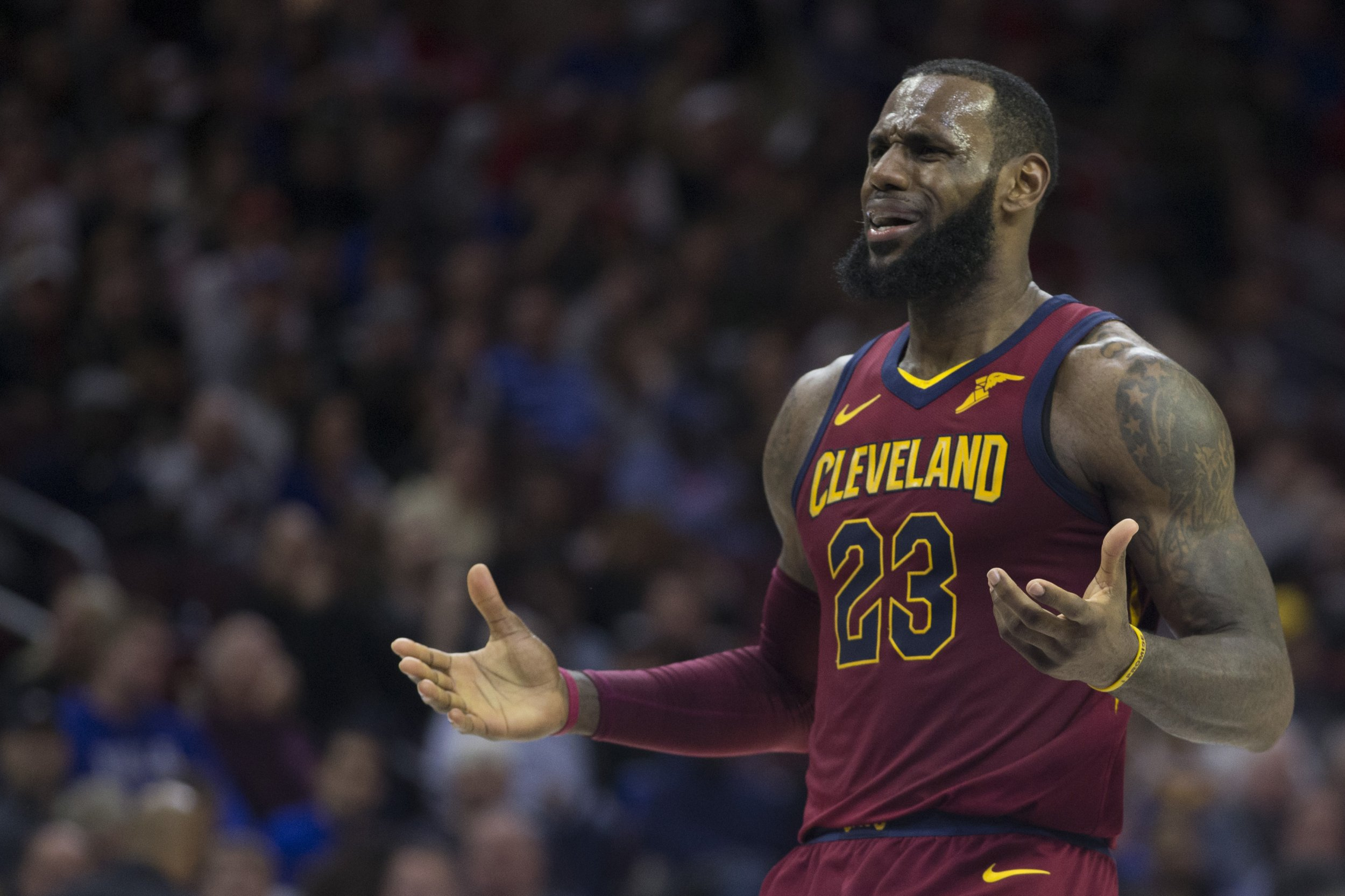 d76f1d6cbb1 GettyImages-942816680 LeBron James in action against the Philadelphia ...