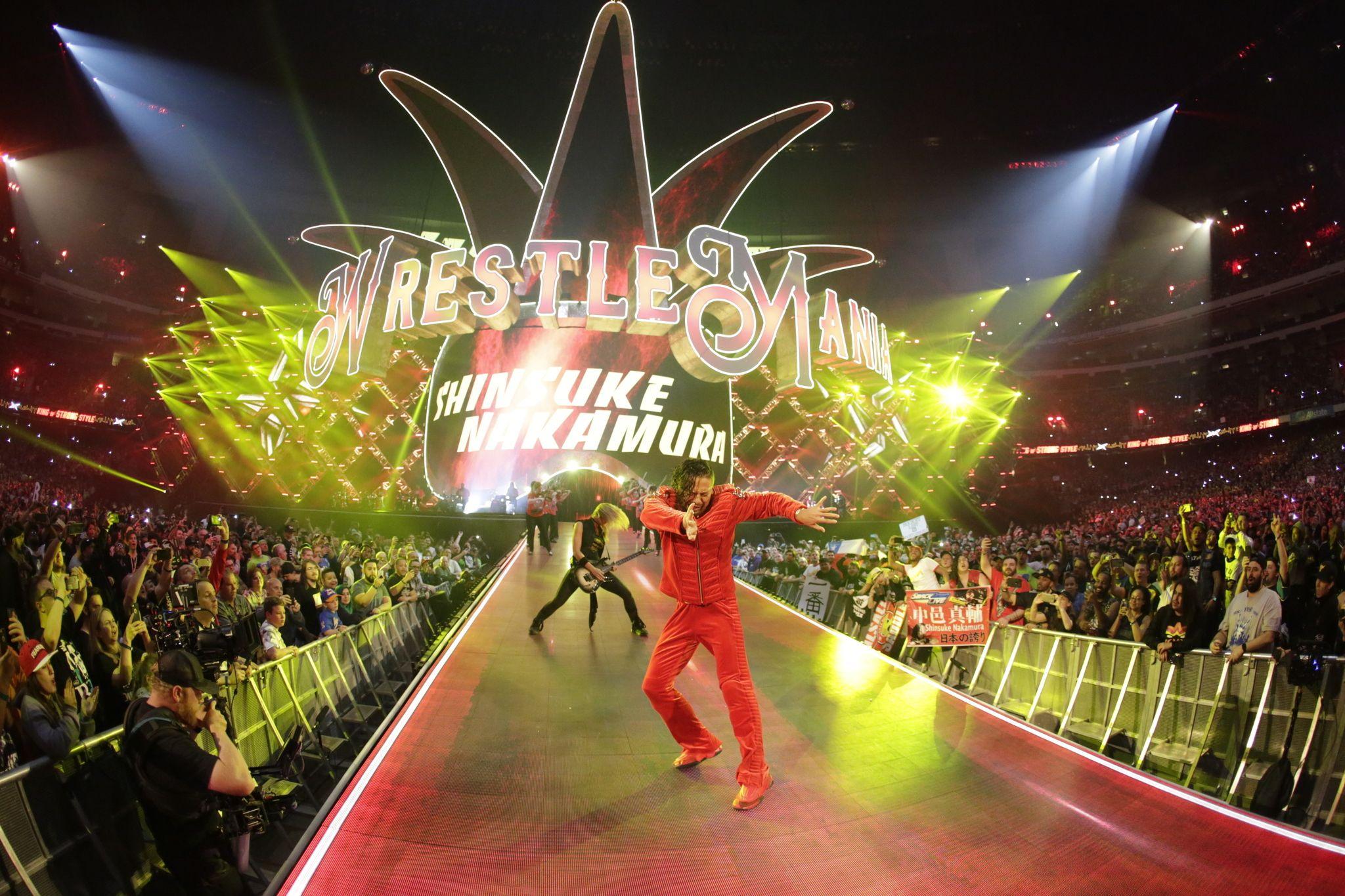 wrestlemania 34 9 best entrances from wwe�s big night