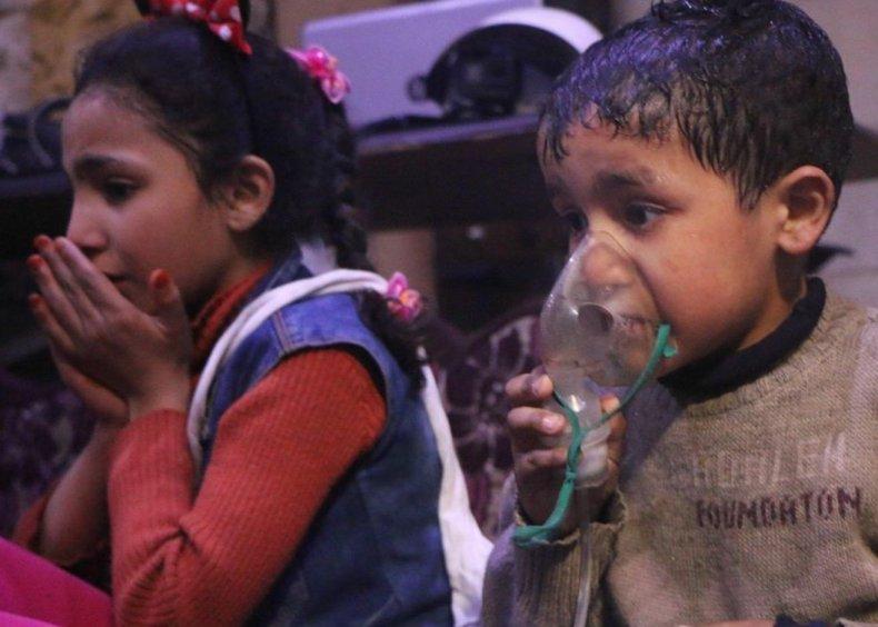children white helmets douma
