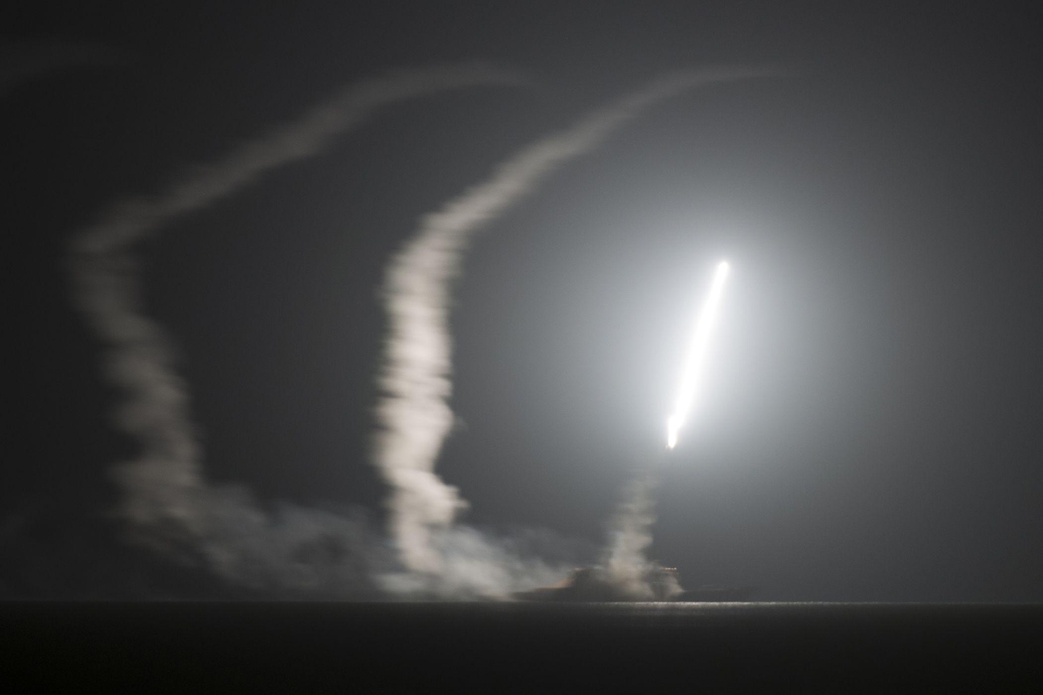 Tomahawk missile launch US Navy Arabian Gulf