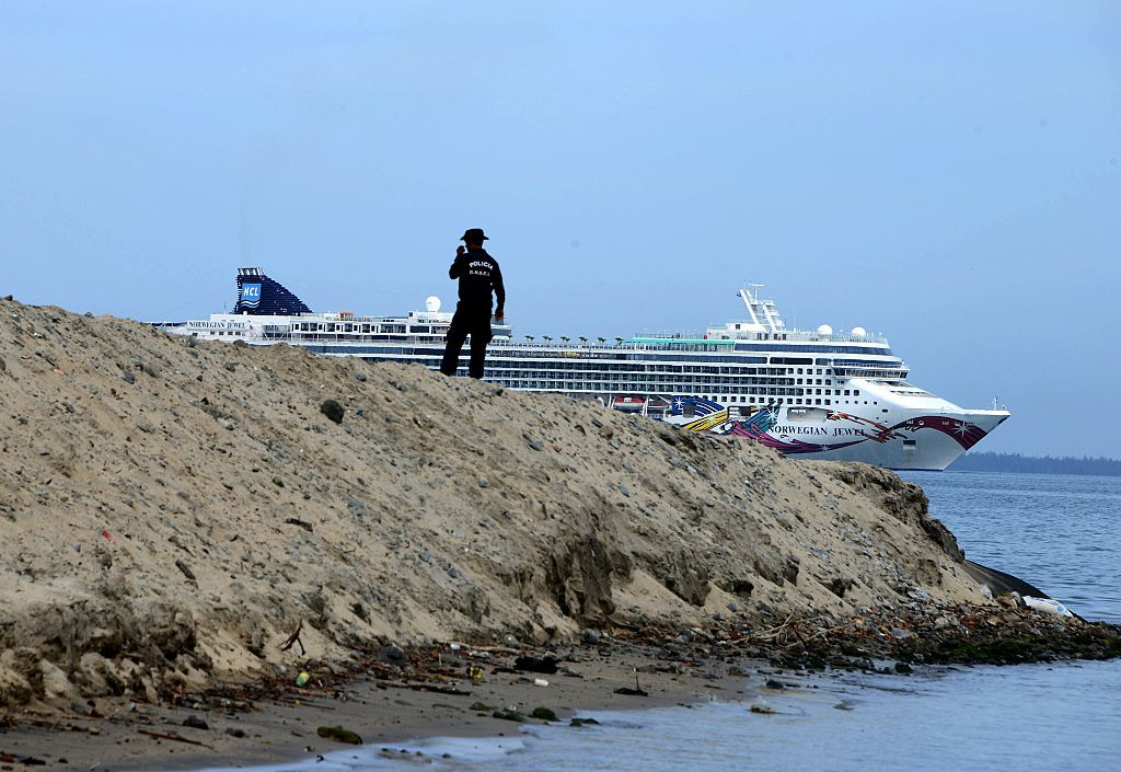 Cruise Liner in Honduras