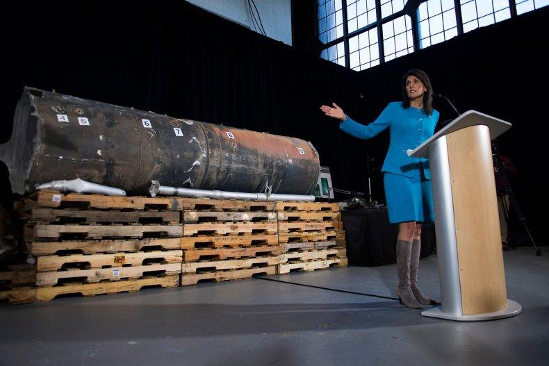 Nikki Haley Iran missile Yemen