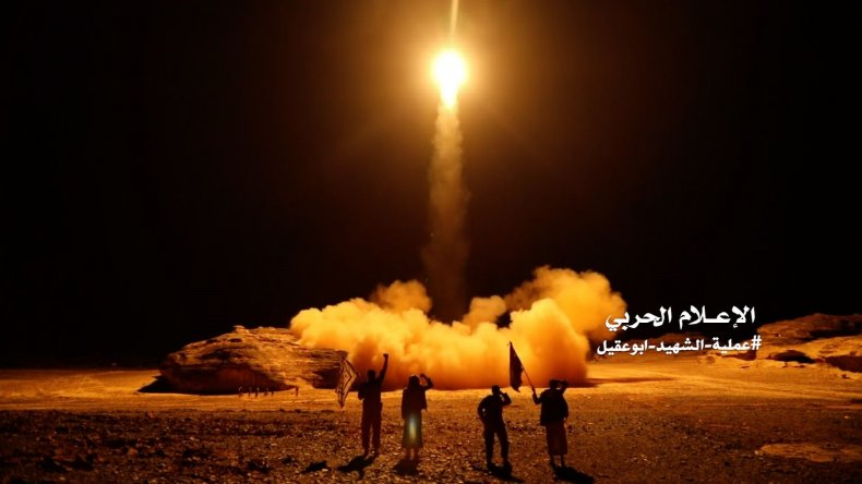 Houthi rebels launch ballistic missile