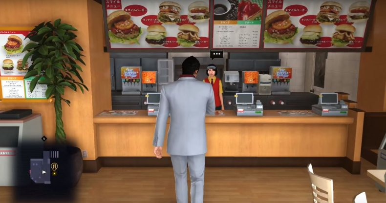 yakuza 6 menu combos kamurocho restaurants smile burger