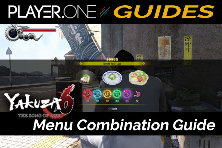 Yakuza 6 Menu Combination Guide