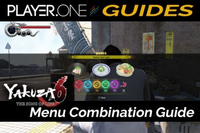 Yakuza 6 Menu Combination Guide