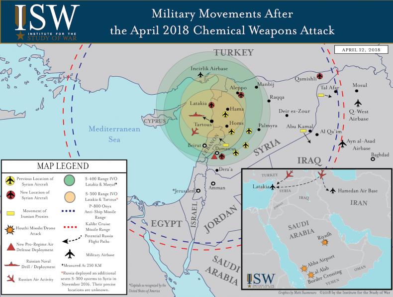 SyriaRussiaMilitaryMovementsMap
