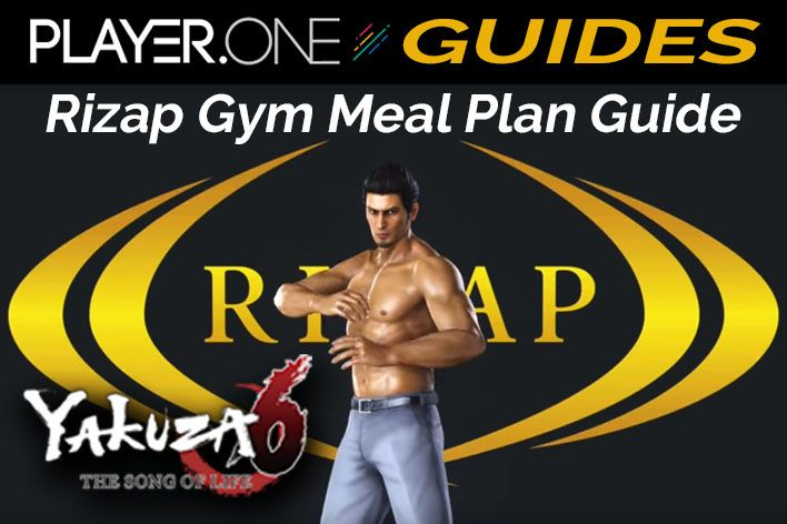 Yakuza 6 Rizap Gym Meal Plan Guide