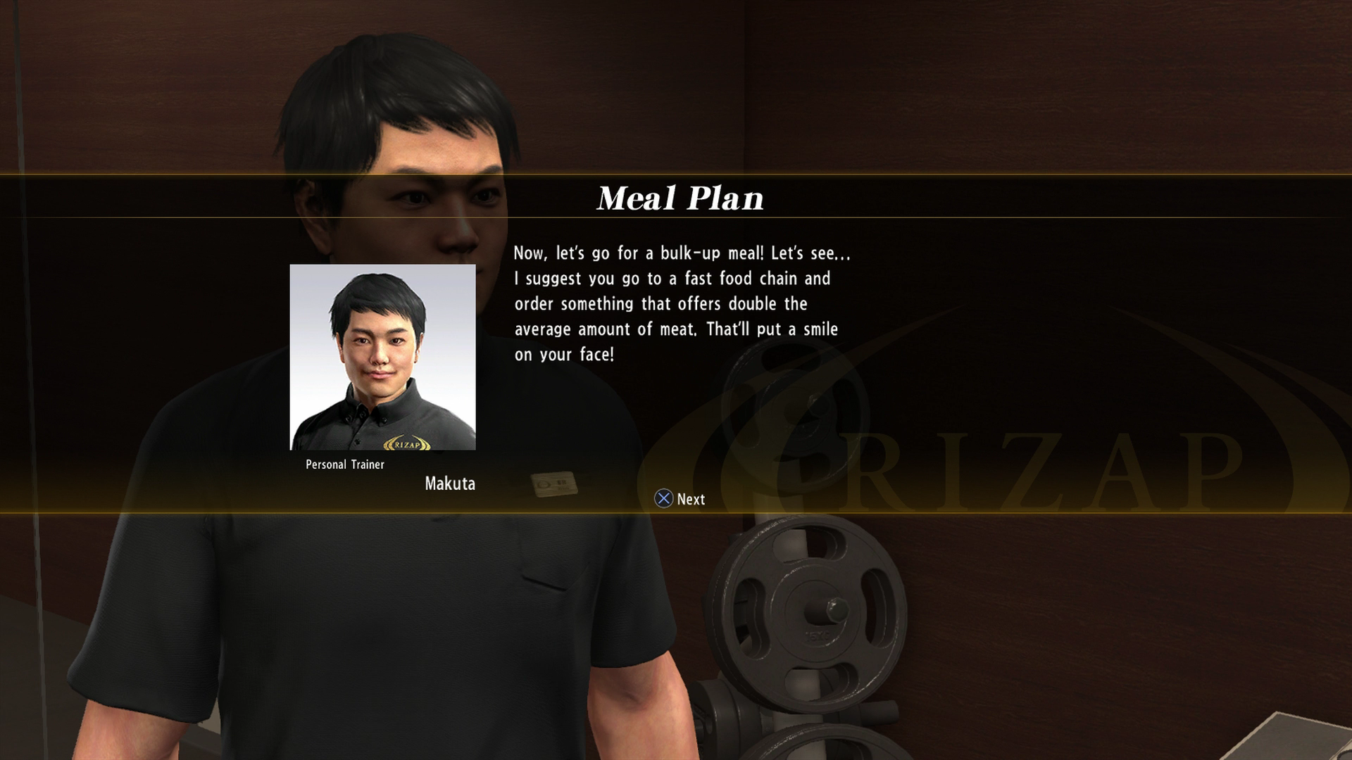 ec2db9732 'Yakuza 6' RIZAP Challenge Meal Plan Guide: What Food to Eat After a  Workout?