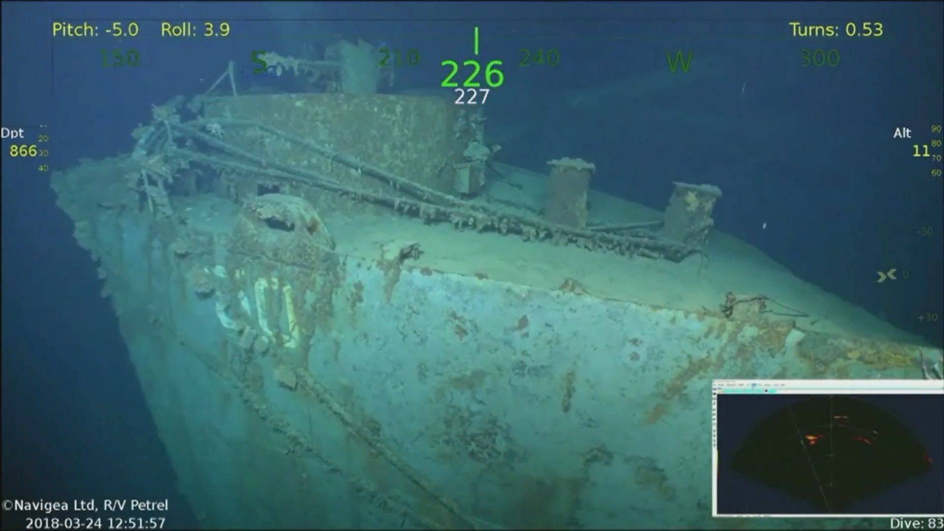Missing U S Ww2 Warship Found In Pacific Ocean After 75 Years