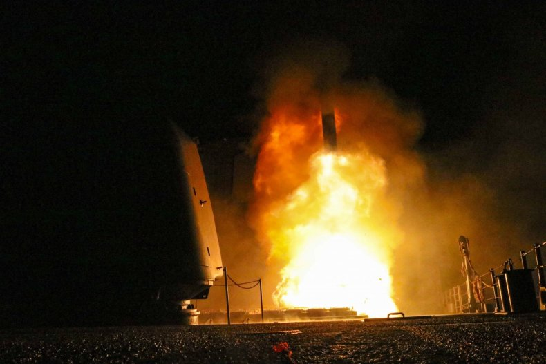 Syria strike missile