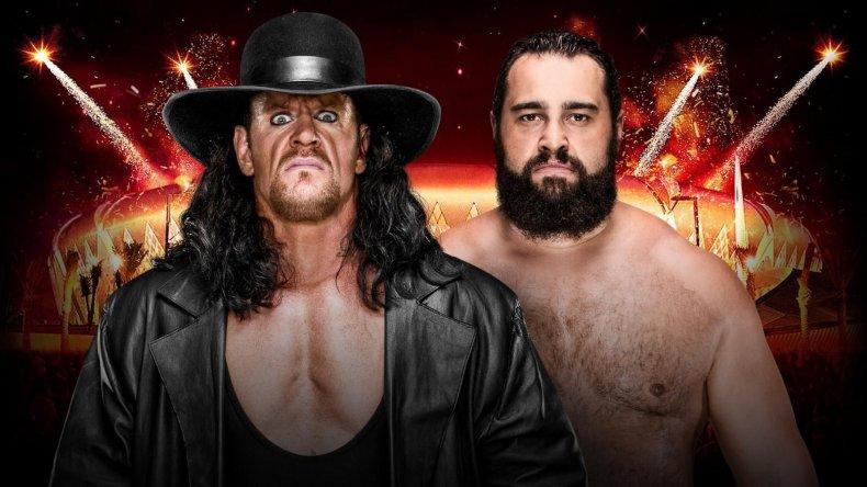 rusev vs undertaker greatest royal rumble
