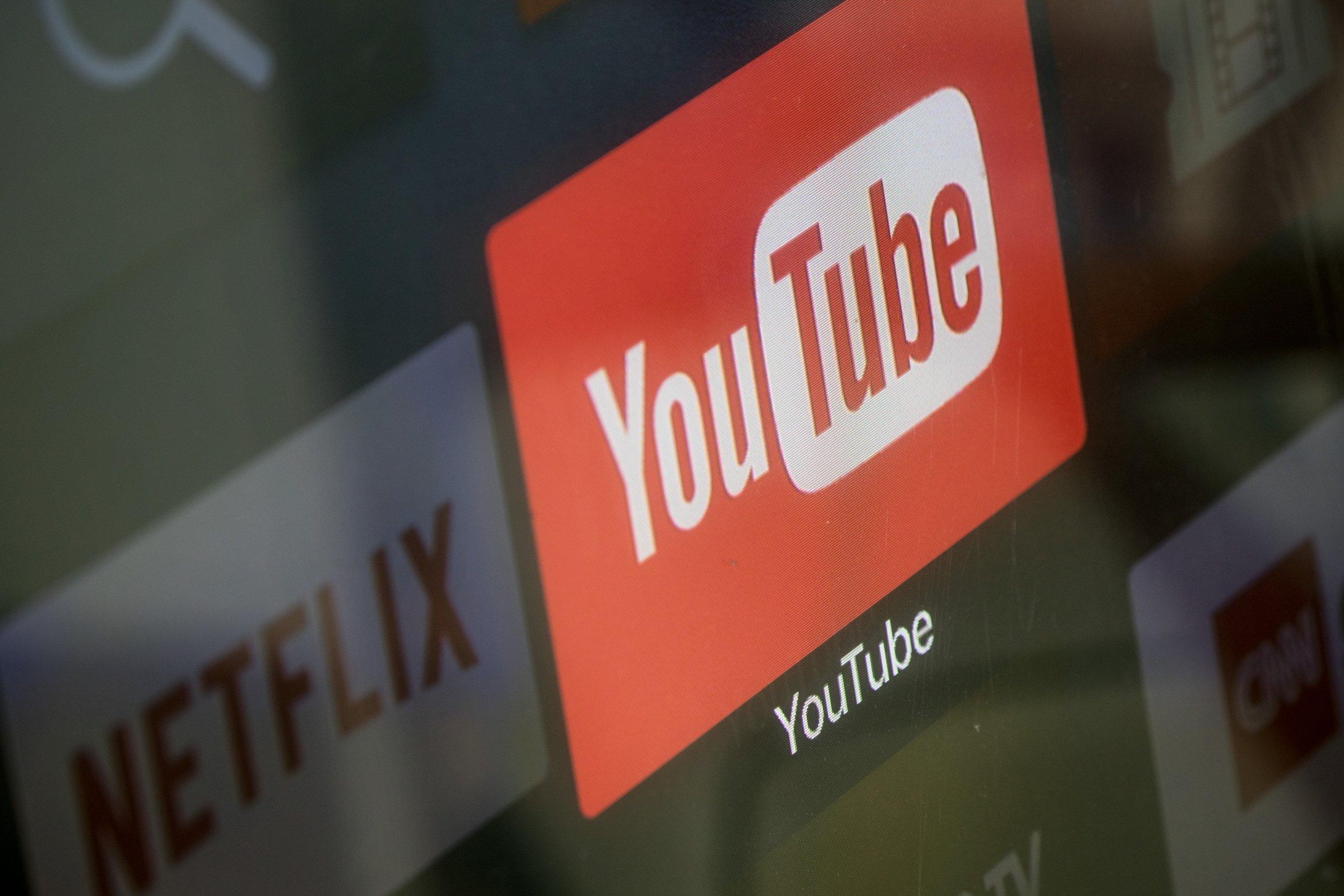 YouTube logo screen