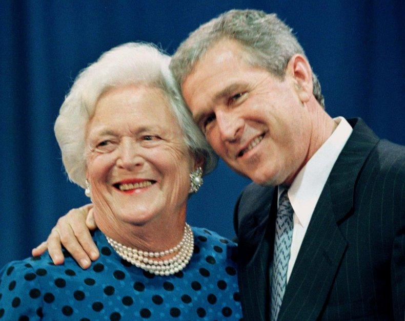George W Bush and Barbara