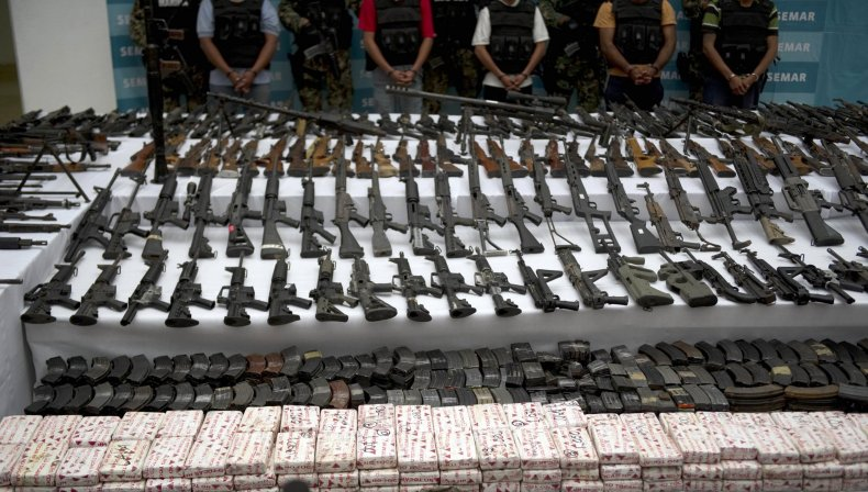 Mexico drug cartel weapons